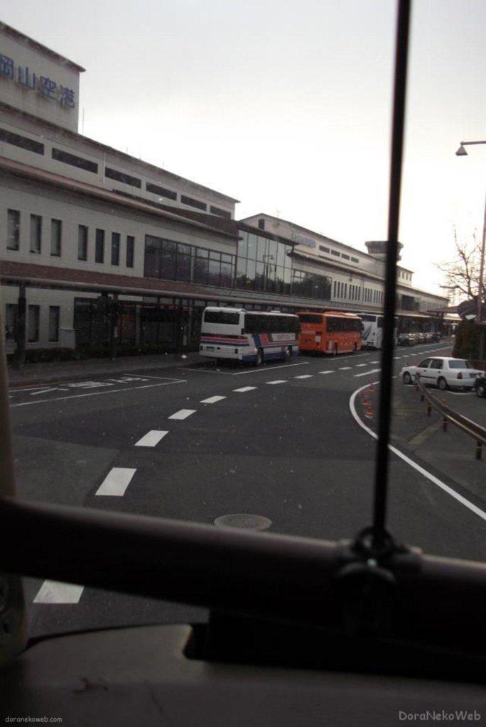 岡山空港から飛び立って東京へと。