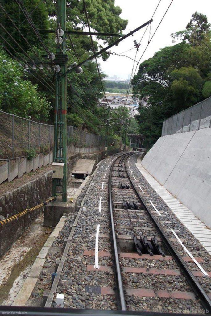 京阪鋼索線は、京都府八幡市の京阪電気鉄道のケーブルカー。