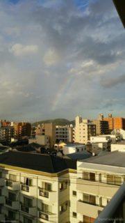 虹がにじんでる、なんてね@岡山市北区の某所。