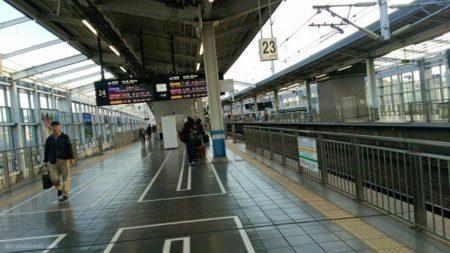 岡山から新幹線で東京に向かうなり