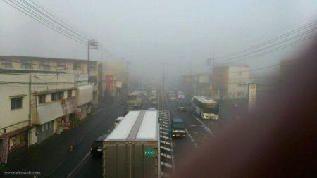 濃霧in岡山市内
