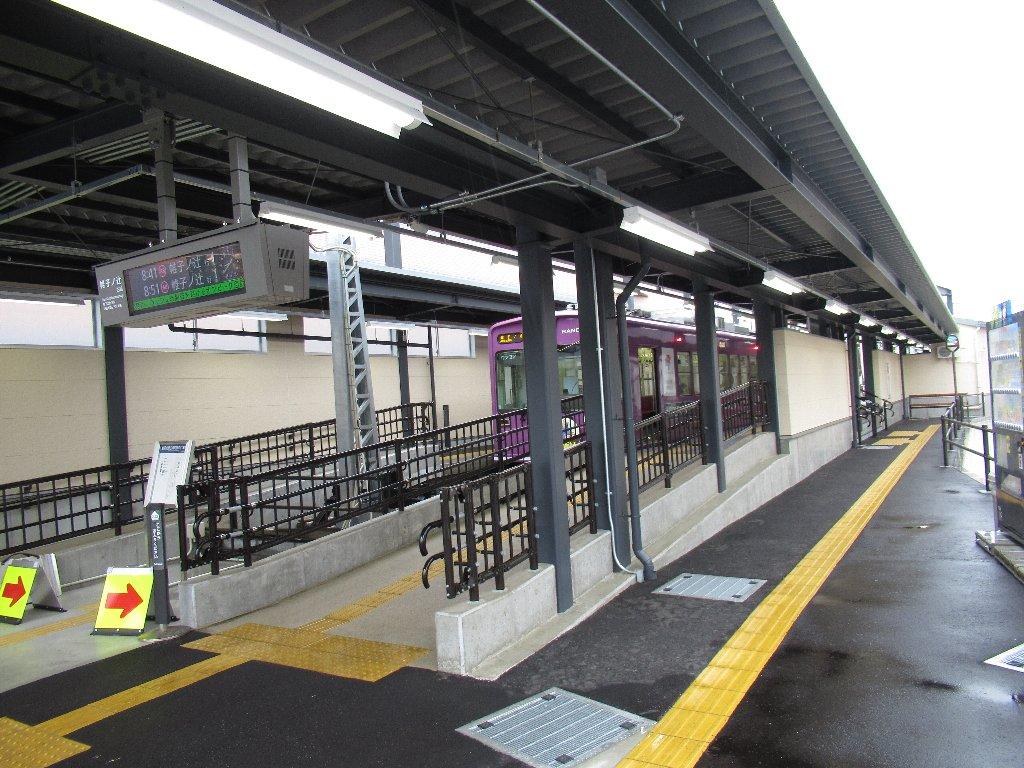 北野白梅町駅は、京都府京都市北区下白梅町にある京福電気鉄道(嵐電)北野線の駅である。