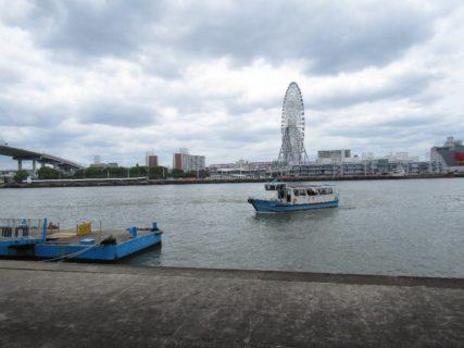 安治川の天保山渡し、天保山渡船は無料なのでございます。