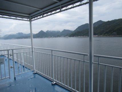 呉中央桟橋から広島港までフェリーで移動。