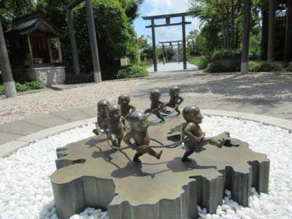JR博多シティ屋上にある鉄道神社です。