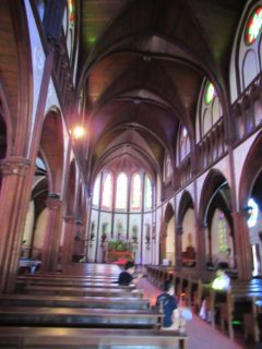テーマパーク博物館明治村、聖ザビエル天主堂。