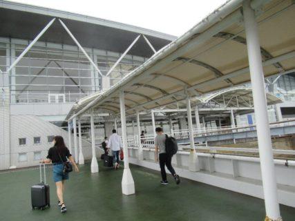 松山観光港に到着、上陸いたします。