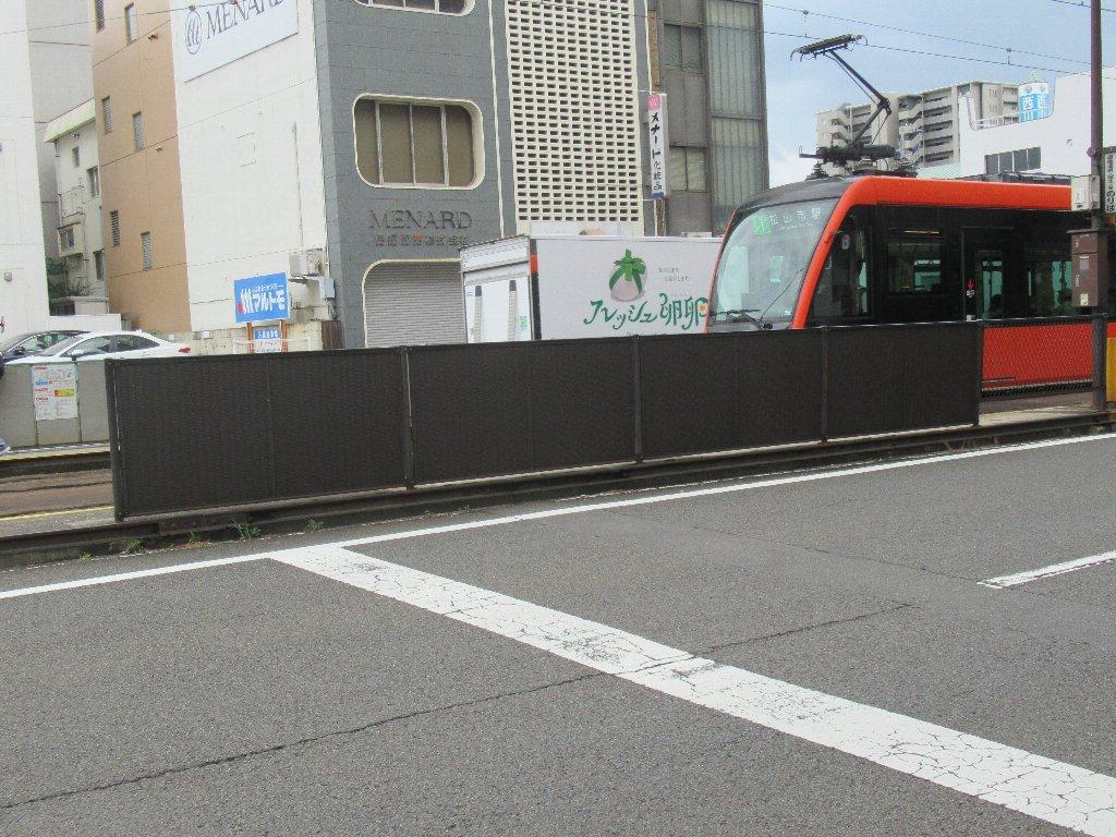警察署前停留場は、松山市勝山町2丁目にある伊予鉄道の停留所。