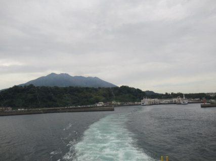 早々に、桜島港から鹿児島港に戻ります。
