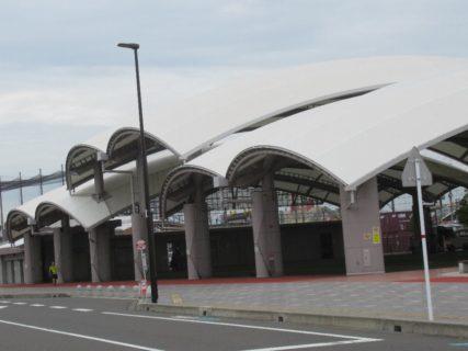 鹿児島駅に隣接する「かんまちあ」なる複合公園。