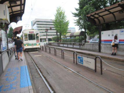 辛島町停留場は、熊本市中央区新市街にある熊本市電の電停。