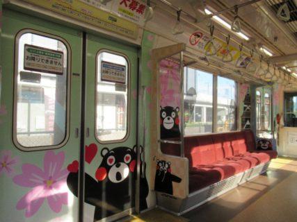 くまもん電車は、かつて東京で銀座線を走っていました。