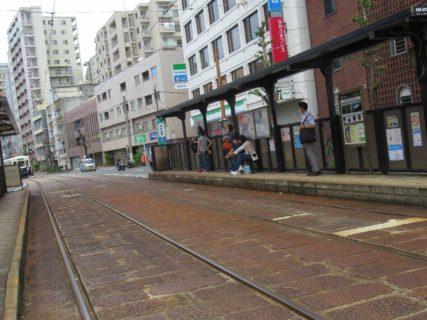 めがね橋停留場は、長崎市栄町にある長崎電気軌道の停留場。