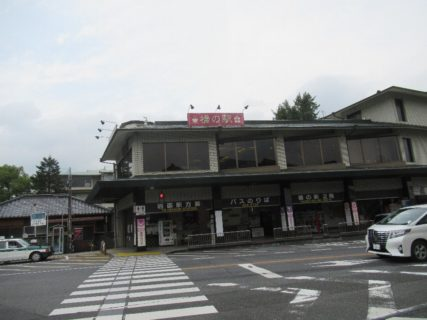 バスで錦帯橋バスセンターに到着しました。