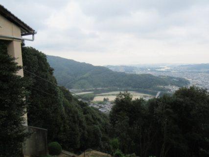岩国城ロープウェイ山頂駅の展望台。