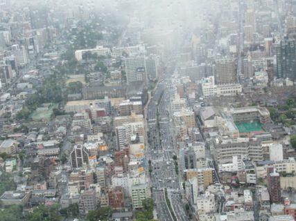 ハルカス300展望台でビビりまくる高所恐怖症気味ジジイ。