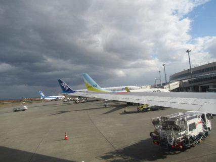 新千歳空港は、北海道千歳市と苫小牧市にまたがって所在している国際空港。