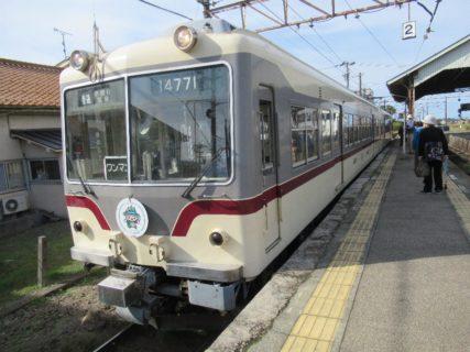 電鉄黒部駅から宇奈月温泉行普通電車に乗車です。