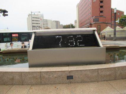 金沢駅兼六園口の時計噴水。
