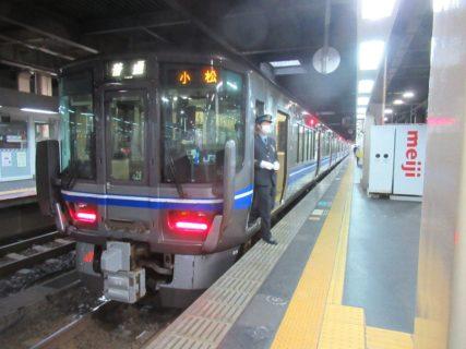 金沢駅の在来線ホームでございます。