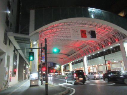 鳥取駅北口のサンロードあたり。