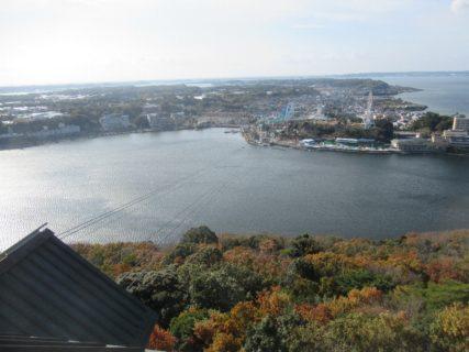 大草山展望台からの眺めでございます。