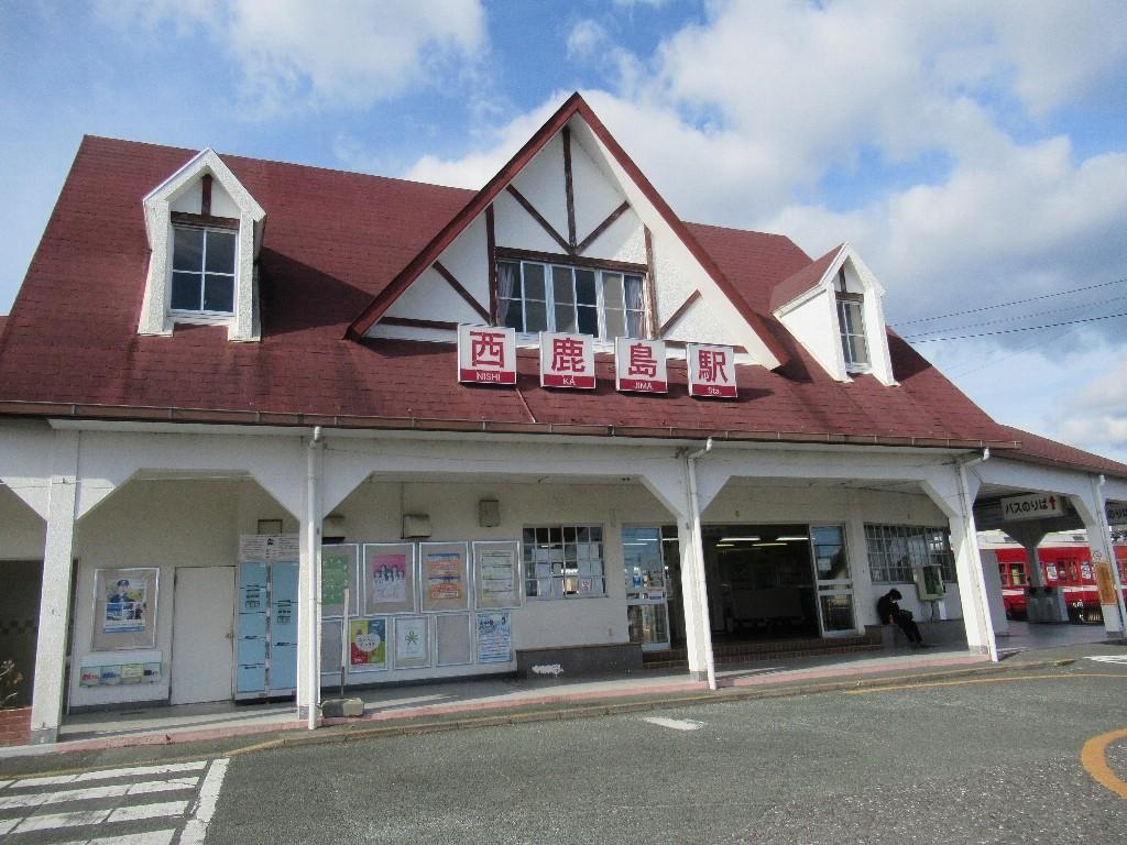 西鹿島駅は、浜松市天竜区にある、遠州鉄道・天竜浜名湖鉄道の駅。