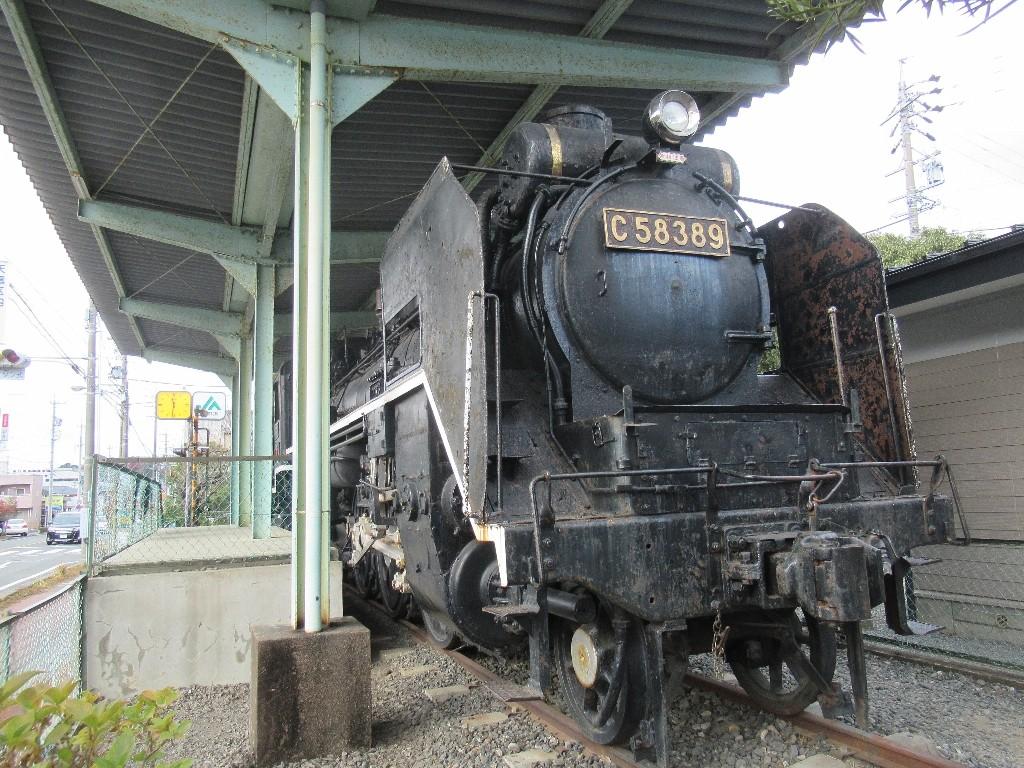 天竜二俣駅前の機関車公園にあるC58389。