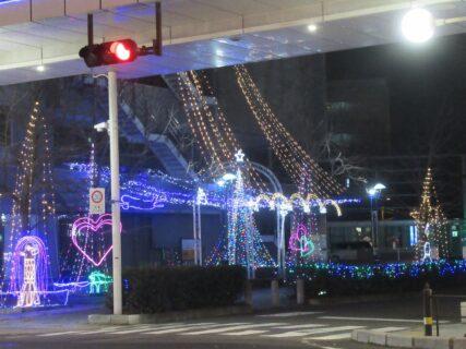 岩国駅の夜景なのでございます。