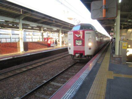 伯備線の特急やくも号で、松江駅に到着いたしました。