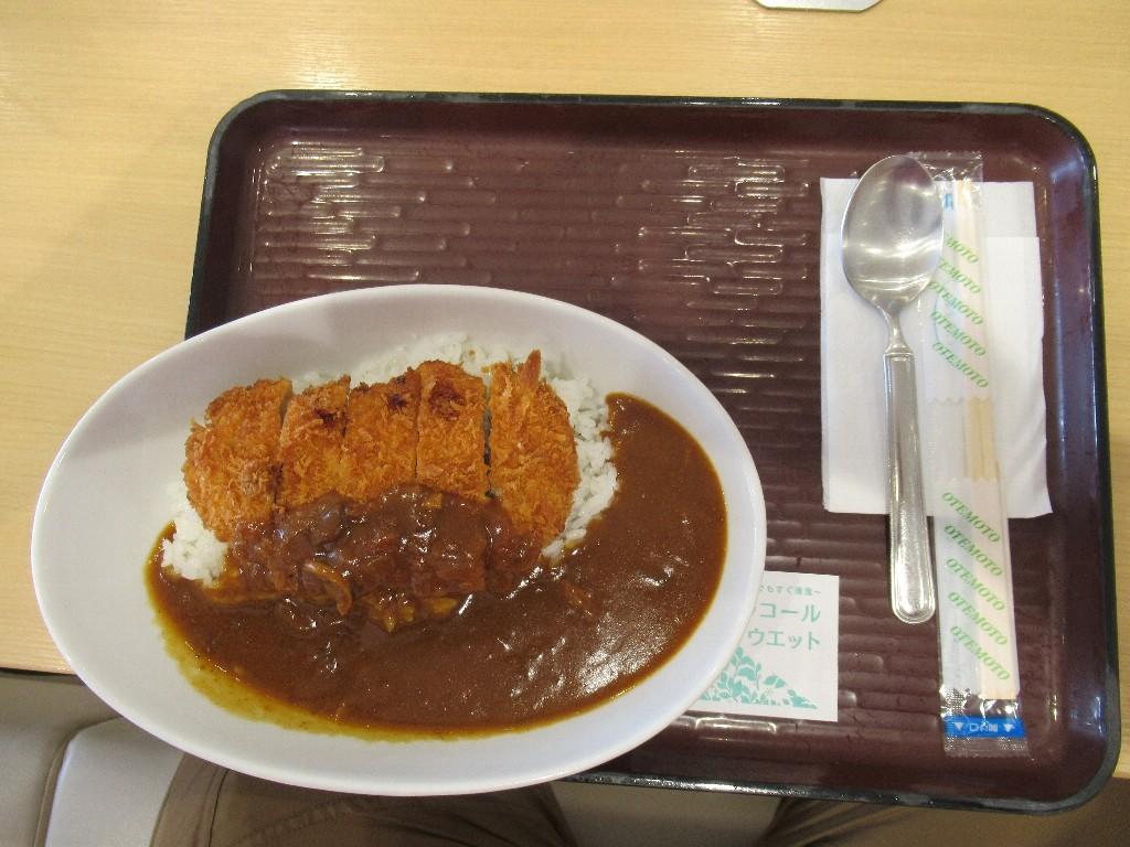 大分自動車道山田SAグリーン・キッチンのカツカレー。