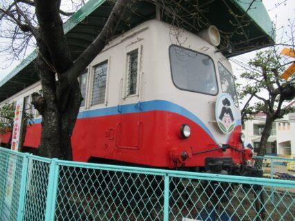 かつて岡山臨港鉄道を走った車両が某保育園にあるのです。