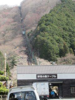黒川駅は、能勢電鉄妙見の森ケーブルの麓側駅。