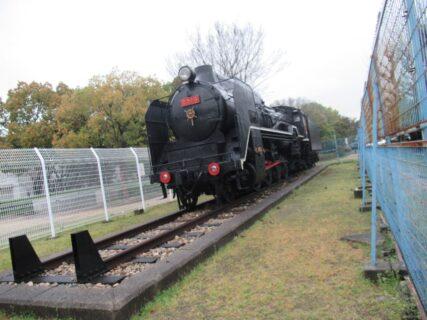 大物公園にD51形蒸気機関車が静態保存されております。