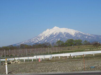 田舎館村から眺めた岩木山でございます。