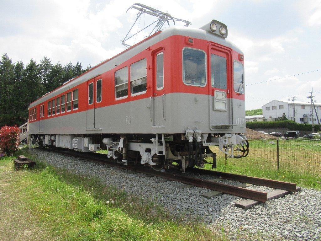 神戸電鉄デ1117号車が展示されている、カコテクノス小野工場。