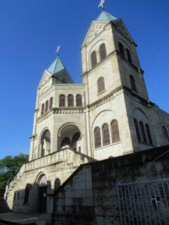 大谷石建築のカトリック松が峰教会。