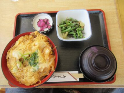 筑波山神社下、神田家の親子丼。