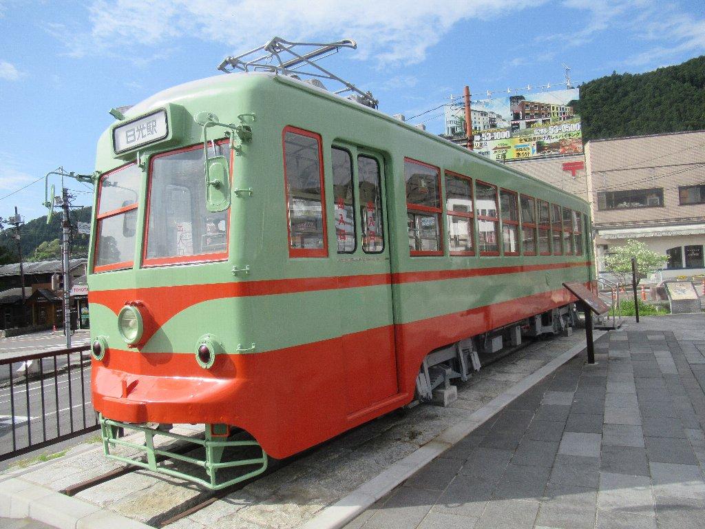 岡山から里帰りした、東武100型路面電車。