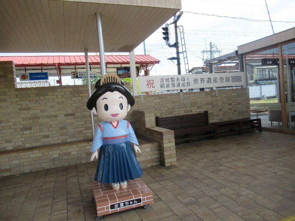 上州富岡駅は、群馬県富岡市富岡にある、上信電鉄上信線の駅。