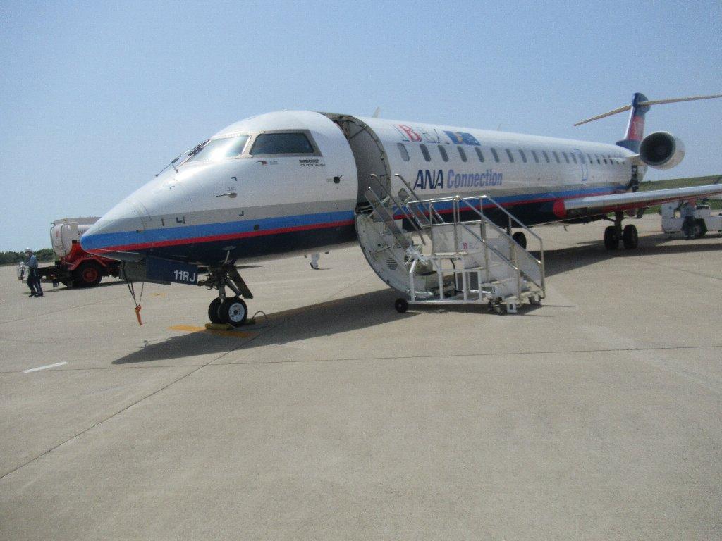 福島空港からIBEXのCRJ700でのフライト。