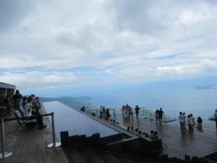 一人で来るかね?な、びわ湖テラスの絶景。