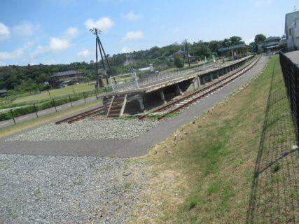 東日本大震災復興祈念公園と旧野蒜駅。