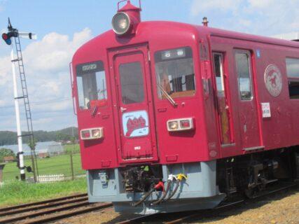 くりはら田園鉄道鉄道公園の保存車両達。