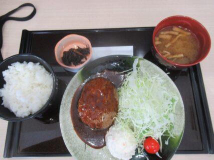 道の駅富士川でハンバーグ定食を食べました。