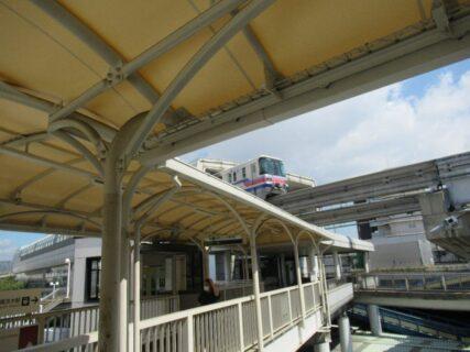 南茨木駅で阪急から大阪モノレールに乗り換え致します。