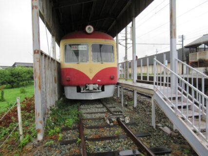 ながでん電車のひろばの長野電鉄2000系電車。
