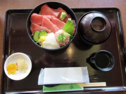 宇和島きさいや広場で食べた、まぐろ丼っす。