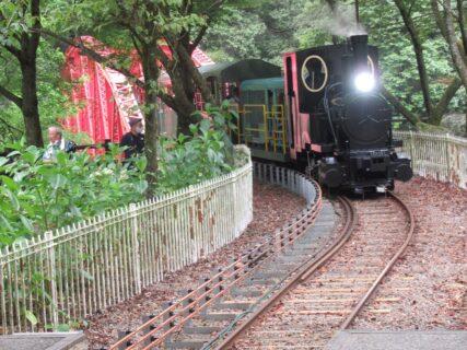 マイントピア別子の鉱山観光鉄道。