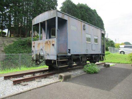 源じいの森キャンプ場に国鉄ヨ9000形貨車が保存されていました。
